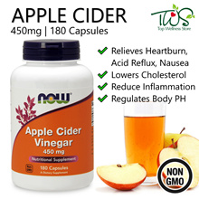 [Now Foods] Apple Cider Vinegar 180 Capsules/Acid Reflux/Heartburn/Inflammation/Weight Diet
