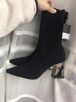 94f6bec838a ZARA women s shoes, elastic fabric, high heels and ankle boots, short boots