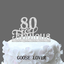 80th And Fabulous Cake Topper 80th Birthday Party Decoration   Acrylic Birthday Cake Topper  80th An