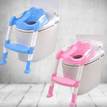 Baby Toddler Potty Toilet Trainer Safety Seat Chair Step with Adjustable Ladder Infant Toilet Traini