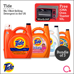 [PnG] [FREE IONA OVEN WORTH $49] Bundle of 3 Tide 4.43L- No.1 Best Selling Detergent in the U.S