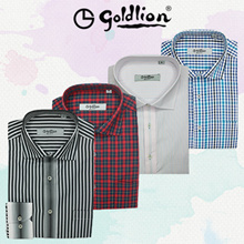 GOLDLION Classic Mens Long-Sleeved Shirts