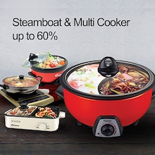 PowerPac Steamboat 1.1L Multi Cooker pot with Free BBQ Plate (PPMC182)
