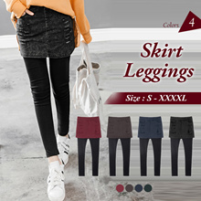 OB CLUB ★ OBDESIGN ★ ORANGEBEAR ★ STRETCH WASHED RIPPED SKIRT LEGGINGS ★ S-XXXXL SIZE ★ PLUS SIZE ★ VARIOUS COLOR ★ OFFICE ★ TRAVEL ★ WEEKEND ★ HOLIDAY ★ WORK ★ CASUAL ★ COMFY