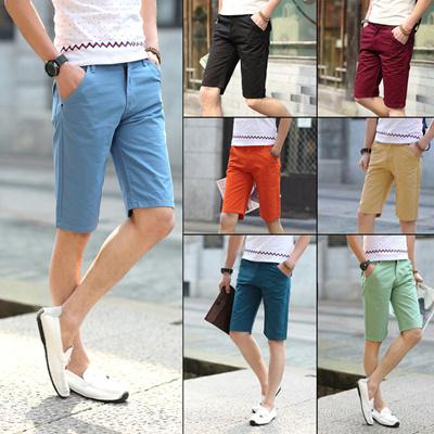 07e1562ea Fashion Khaki Shorts Summer Business Casual Shorts Men Short Pants Mens  Shorts Solid Short Men