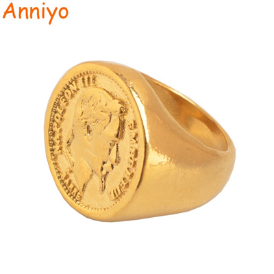 d3dbb30223d91 turkish coin ring gold color and copper metal ring women/men,arab turkey  wedding big rings jewelry