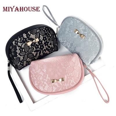 921f4572df28 Miyahouse Sexy Fashion Cosmetic Bags Women Makeup Bags Girls Lace Zipper  Cosmetics Bag Toiletry Case