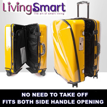 Zipper Transparent PVC Luggage Cover Waterproof Case Protector No Need To Take OFF 20 to 30 Inch