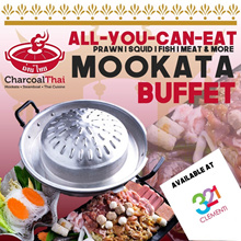 [Charcoal Thai] All-You-Can-Eat Mookata Buffet