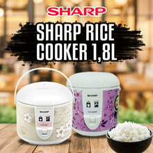 Sharp Rice Cooker KS-R18MS-PK/BR/PP -1.8 L - Pink Free Ongkir Only JABODETABEK
