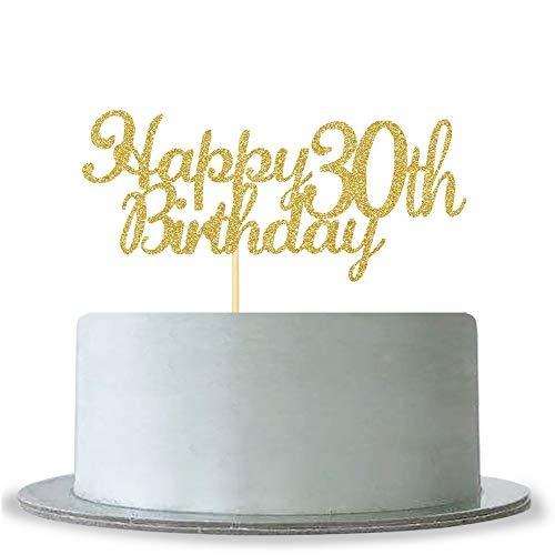 Fabulous Qoo10 Webenison Happy 30Th Birthday Cake Topper Gold Glitter Funny Birthday Cards Online Alyptdamsfinfo