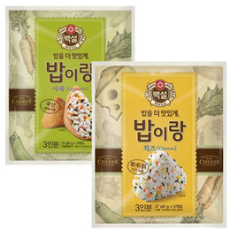 CJ Beksul Rice Seasonning Mix Vegetable Cheese 27g Seaweed 18g Korean Food Mart SINGSINGMART