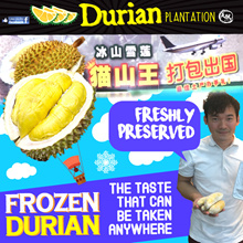 [Fresh and Frozen] Freshly Frozen Durian 1kg Meat! FREE DELIVERY ABOVE $100