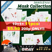 ★BLACK FRIDAY SPECIAL 10+1★[Innisfree] New my real squeeze mask pack x10sheets