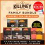 (Killiney) Bundle of 6 - Premium Coffee | Tea Selection Family Bundle Instant Coffee Kopi