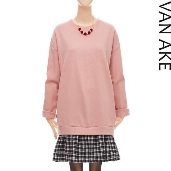 バンエイクレイヤード配色ルーズフィットワンピースV7W1OP4480 面ワンピース/ 韓国ファッション