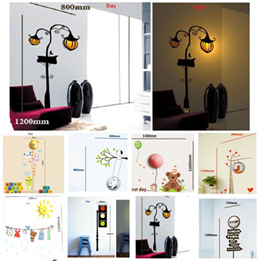 Wall Sticker LED Night Lamp / 3D DIY / Wall Decal / Room Deco Decoration / Cute / Fun / Sweet / Romantic / Child / Baby / Adult / LED Light / Many Designs / No cable