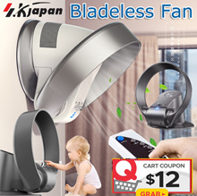 SK Bladeless Fan With Remote Control No Blade Fans Home Appliance Electric Cooling Fan Head Shaking