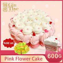 ♥Pink Flower Cake 600G♥Add on Pandan Sponge Cake Butter Cream 20pcs ONLY $6.9