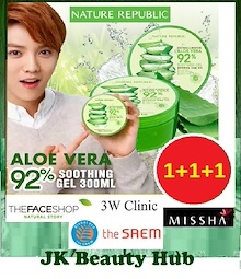 ★Nature Republic Aloe Vera Series★ Bundle of 3 Aloe Vera 92% Soothing Gel/ Mist/ Foam Cleanser/Gel
