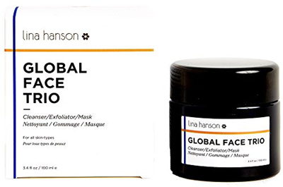 Lina Hanson - All Natural Global Face Trio (Cleanser / Exfoliator / Mask)