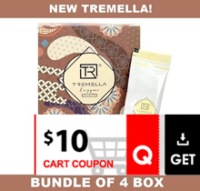 CRAZY $101.40 NETT!! ♥ [BUNDLE OF 4] ♦ *NEW UPGRADED* [TREMELLA-DX ENZYME DRINK] 16 SACHETS/BOX ♦