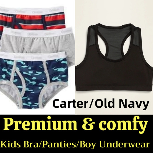 Qoo10 - 【SG SELLER】USA Carter Kids Underwear Packs☆Girl training bra Sports  Br... : Kids Fashion