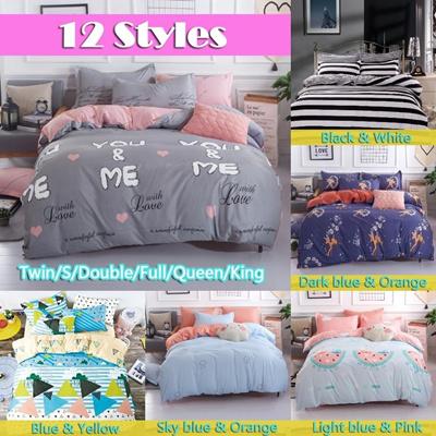 12 Styles New Por High Quality Bed Linen Comforter Set Youme Duvet Cover Soft Cotton Bedding