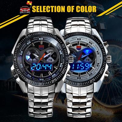 6883dc4c5255 Amante De Los Hombres De La Marca De La TVG Full Steel Relojes Reloj  MasculinoLED Reloj