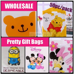 WHOLESALE (50pc/ Pack) Gift Bags/ Goodie Bag for Children Gift/ Birthday/ Party/ Children/ Teachers