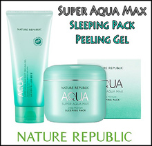 [NATURE REPUBLIC] Super Aqua Max Deep Moisture Sleeping Pack 100ml Soft Peeling Gel 100ml