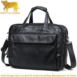 Italy Genuine Cow Leather Retro Men Business Briefcase Bag Shoulder Crossbody Bag Laptop Handbag