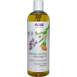 Now Foods Solutions Lavender Almond Massage Oil 16 fl oz (473 ml)