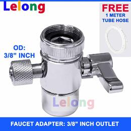 LELONG 3/8 inch 1 WAY Faucet Adapter Water Purifier Water Filters Faucet Adapter Tap Water Filter