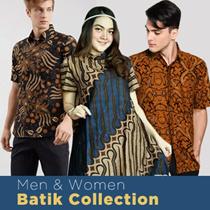 Free Delivery - Men And Women Collection - Atasan Batik Blouse Dress Kulot Wanita dan Kemeja