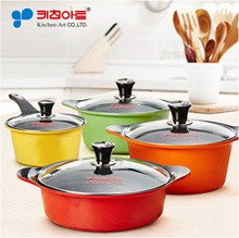 KitchenArt Ceramic Cooking pot 2~4Set / Korea Cookware pots frying pan wok
