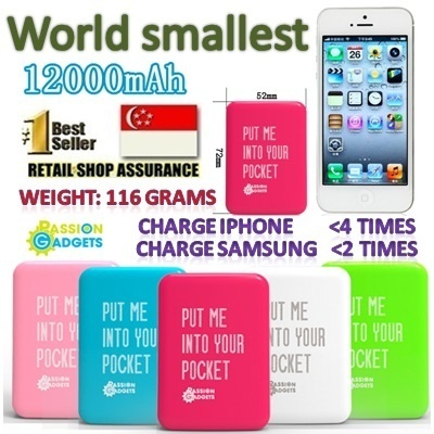 FREE HiSpeed cable★Pocket mini 12 12000 mAh★Gem Stone 6000mah Portable Charger / PowerBank / Power Bank Gifts / Samsung / Iphone / Note / Xiaomi / HTC / Blackberry