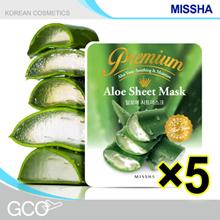 [Missha] Premium Aloe Sheet Mask 5EA / Moisture supply / Hydrating