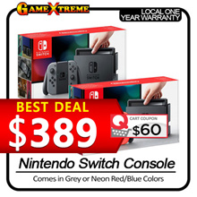 Best Seller! Nintendo Switch Console System Neon Red / Blue. Local Sets with 1 Year Warranty