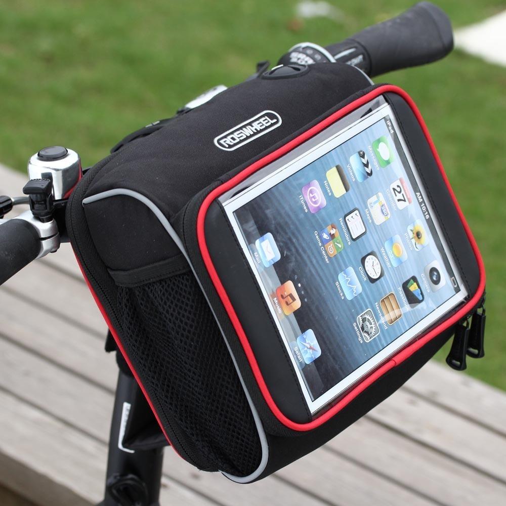 Qoo10 Roswheel Cycling Bicycle Folding Bike Front Handlebar Bag Basket Trans Sports Equipment