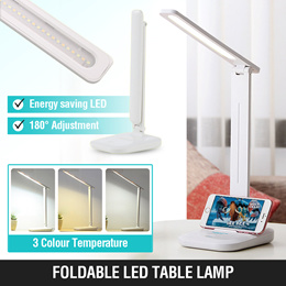 Rechargeable Foldable Dimmable 48 LED Desk Lamp Table Light with Night Light for Reading Bedroom