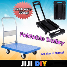 ★Compact Foldable Trolley★ Metal Foldable Trolley Hand Truck ★【 Two sizes 】 Capacity 150KG 300KG