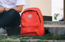 Tas Punggung Ransel Backpack Sekolah Kuliah Impor Unisex - Oranye Cerah