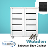 【WOODEN】 Entryway Shoe Storage Cabinet/Shoe Organizer/Household Furniture/Shoe Compartment