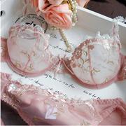 NEW Women Embroidery Transparent Bra Plus Size Lace Bra Brief Sets Sexy  Lingerie Bikini Intimates Se f831085040