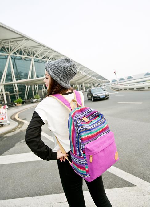actual size. prev next. Korean Fashion Women Canvas Backpack ... 9195b9c9c0d1b