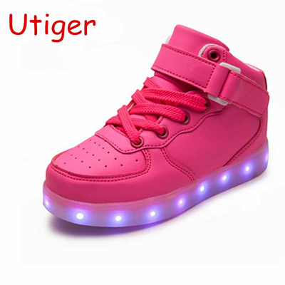 1d1f921f3fe81 Basket Led Children Shoes With Light Up Kids Casual shoes Boys Girls  Sneakers Glowing Shoes enfant