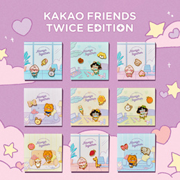 Kakao Friends Twice Edition Pin Badge Set Always Togeter Limited Official Accessories Bag Kakaofrien