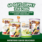 [60 DAYS OF NUTRITIOUS SUPPLY] 22 Complete Nutrimix 750g + 750g
