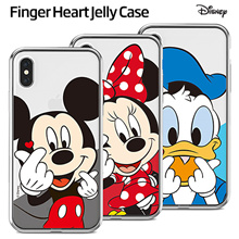 ★SUPEL DEAL + Free Shipping ★ Authentic Disney Finger Heart Jelly Case★ iPhone / Samsung Galaxy / LG